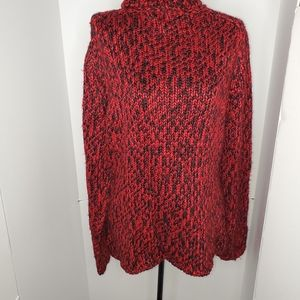 Pursuits limited red/ black marled sweater